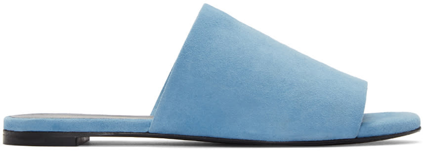 Robert Clergerie Blue Suede Gigy Sandals