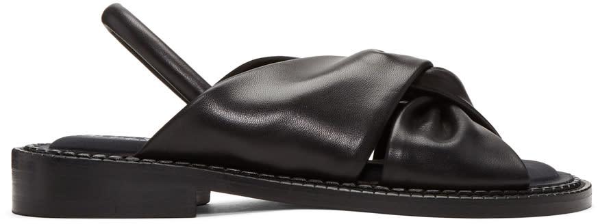 Robert Clergerie Black Bloss Sandals