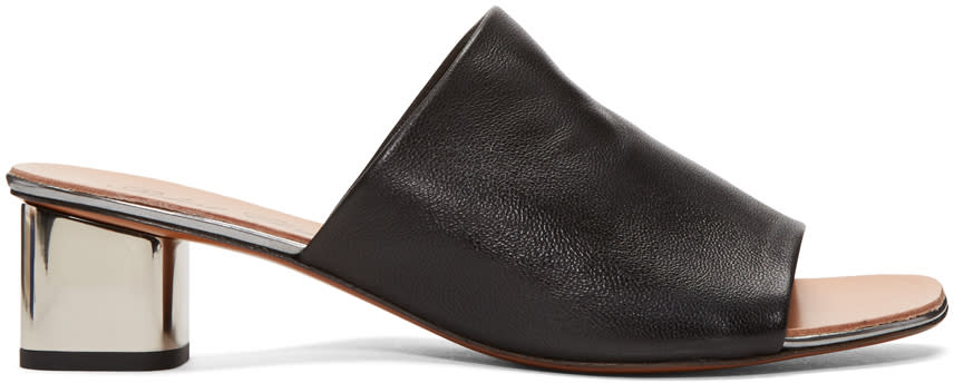 Robert Clergerie Black Lato Mules