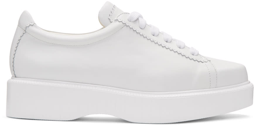 Robert Clergerie White Pasket Sneakers