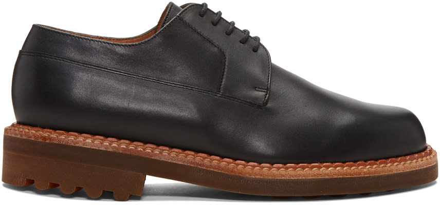 Image of Robert Clergerie Black Doc Derbys