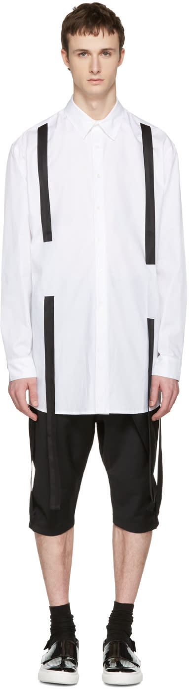 D.gnak By Kang.d White Straps Shirt