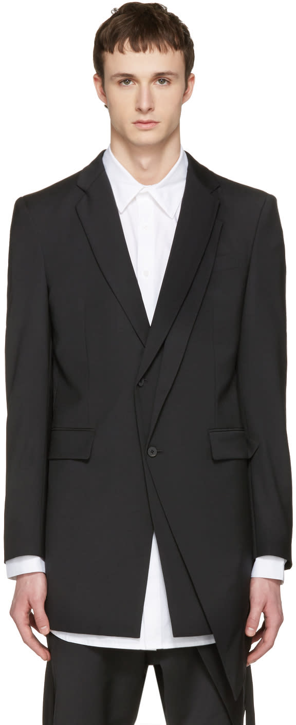 Image of D.gnak By Kang.d Black Layered Blazer