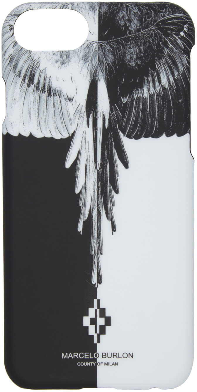 Marcelo Burlon County Of Milan Black and White Aike Iphone 7 Case