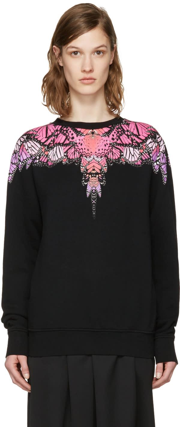 Marcelo Burlon County Of Milan Ssense Exclusive Black Printed Pullover