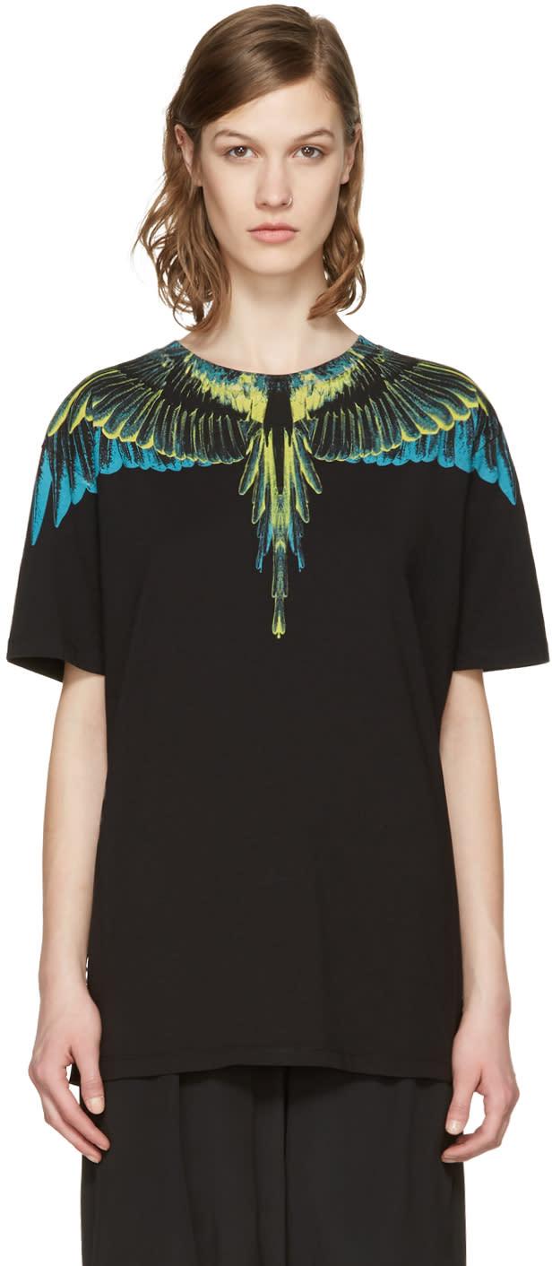 Marcelo Burlon County Of Milan Black Valentin T-shirt