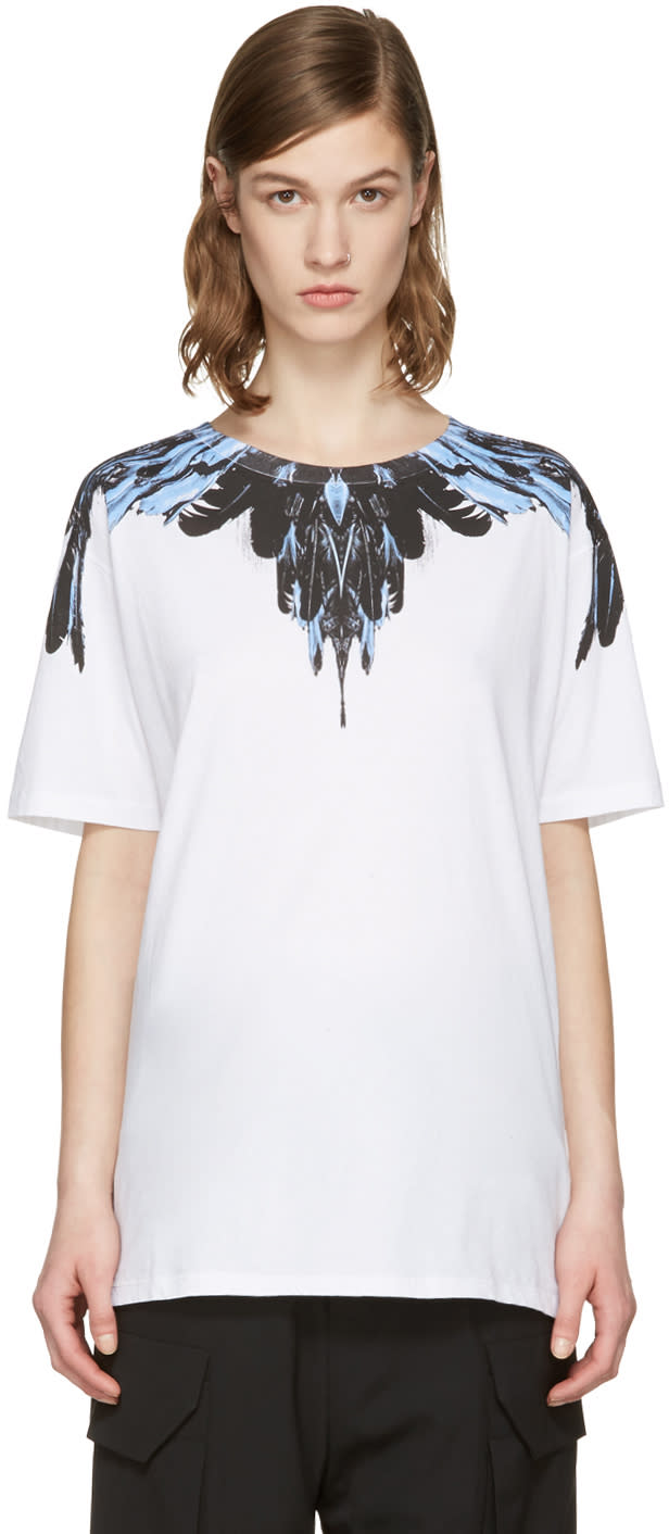 Marcelo Burlon County Of Milan Ssense Exclusive White Ramira T-shirt