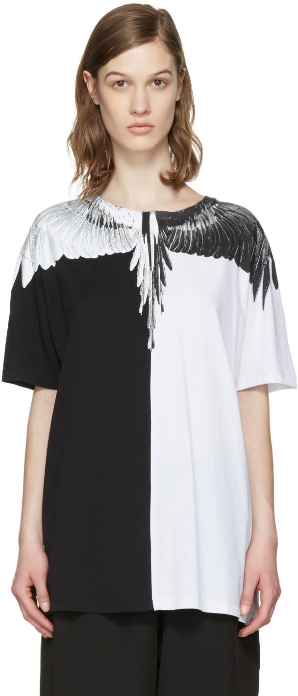 Marcelo Burlon County Of Milan Black and White Aike T-shirt