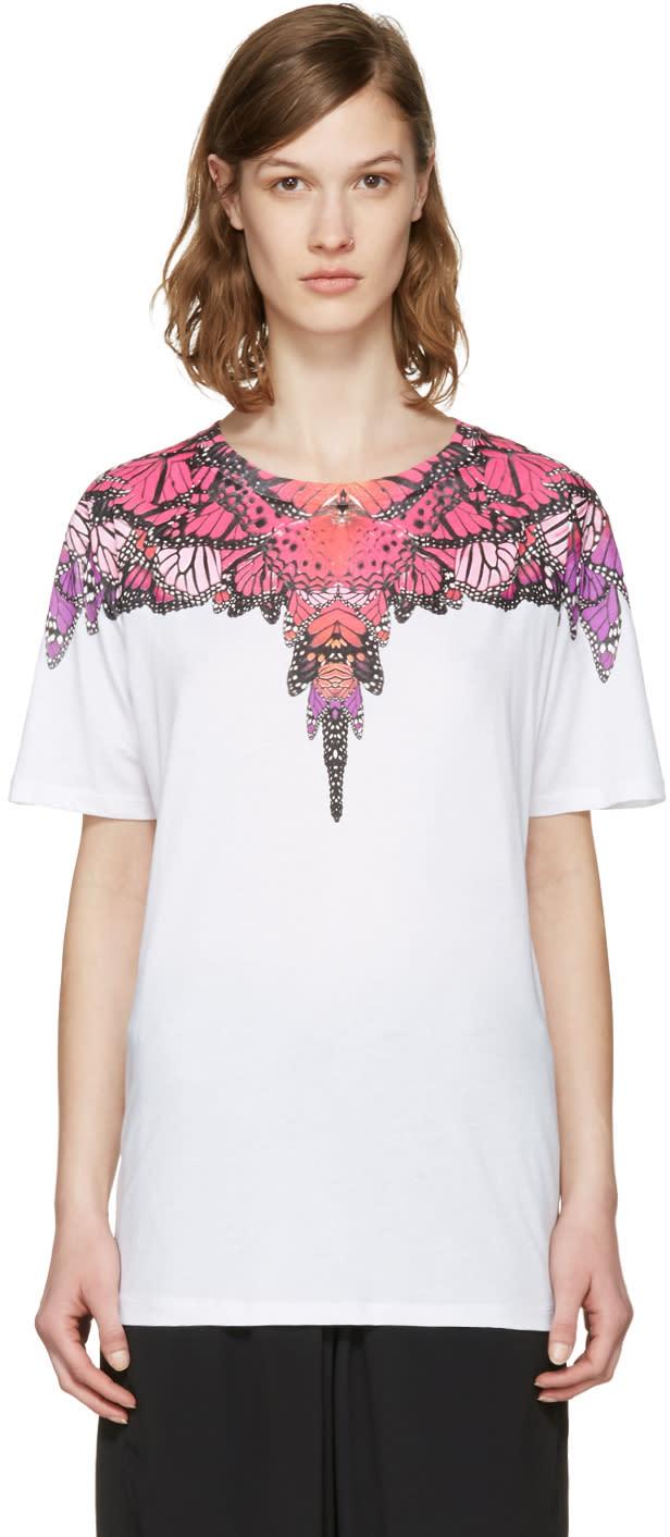 Marcelo Burlon County Of Milan Ssense Exclusive White Filipa T-shirt
