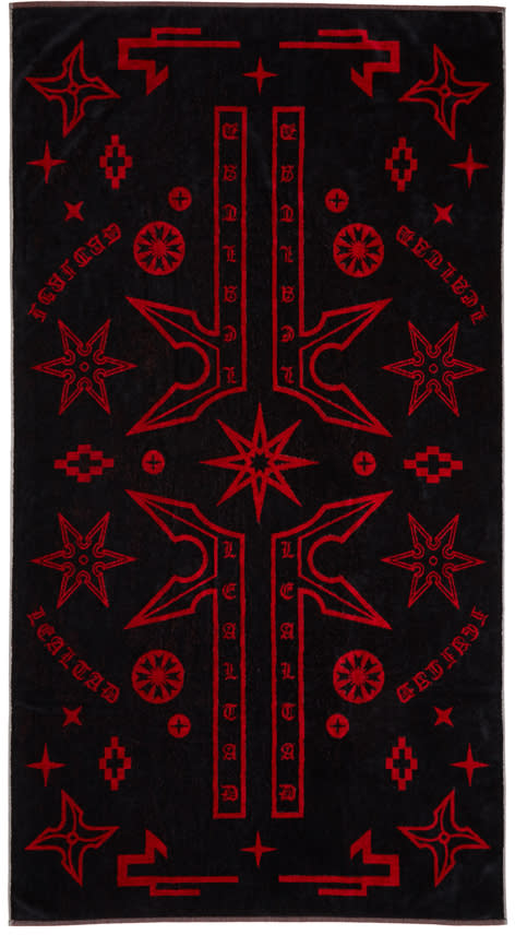 Marcelo Burlon County Of Milan Black Manuel Towel