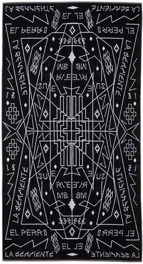 Marcelo Burlon County Of Milan Black Salomon Towel