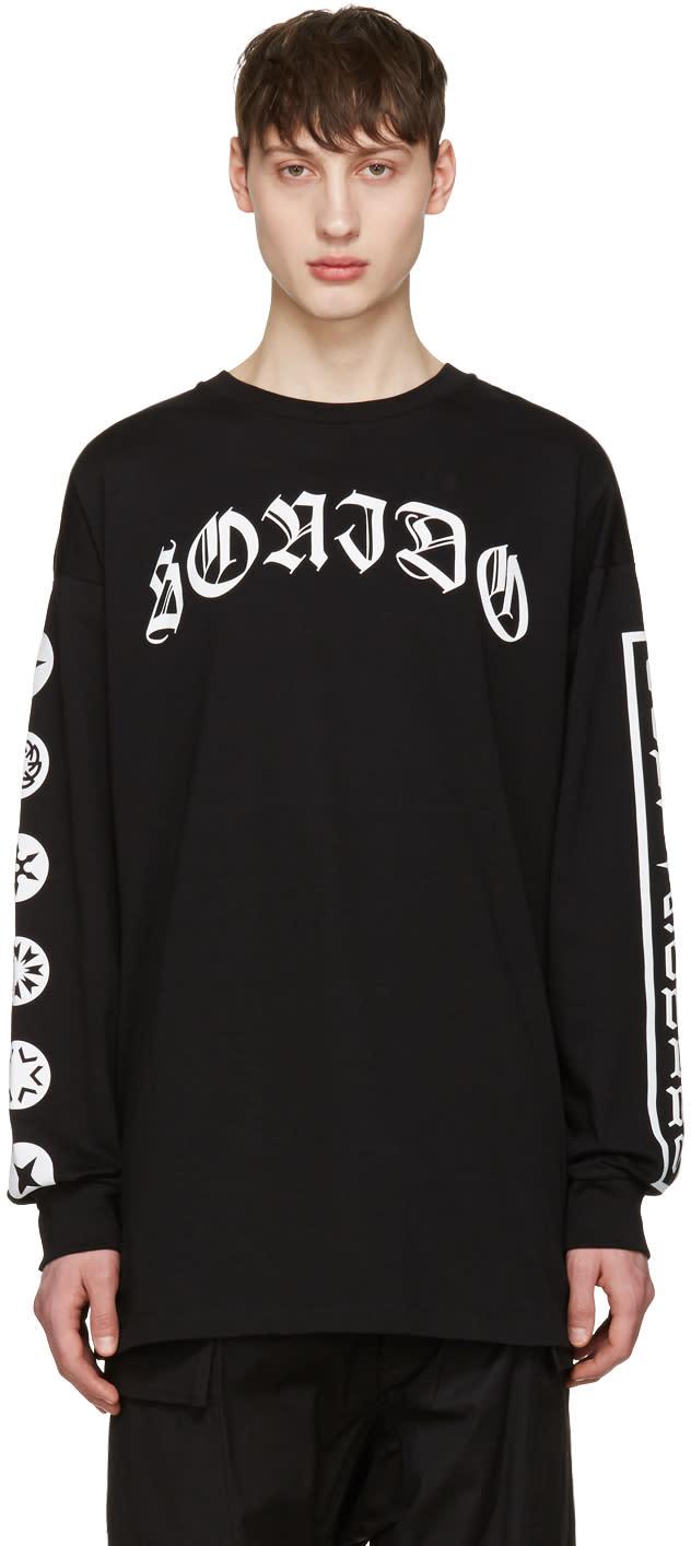Marcelo Burlon County Of Milan Black Neron Long Sleeve T-shirt