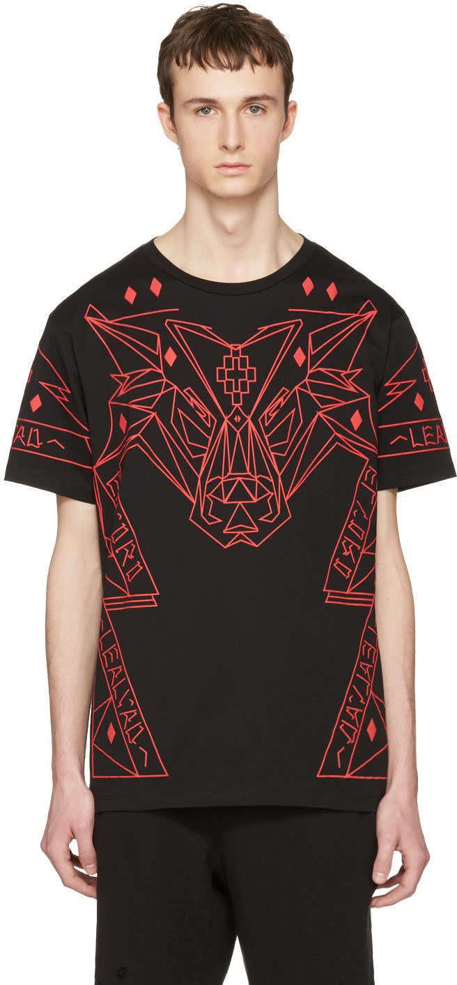 Marcelo Burlon County Of Milan Black Lamborghini T-shirt