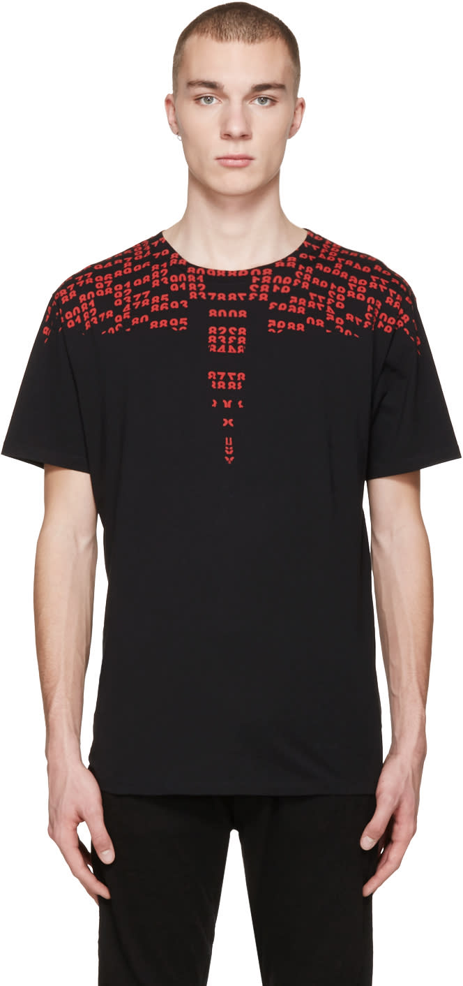 Marcelo Burlon County Of Milan Black Rey T-shirt