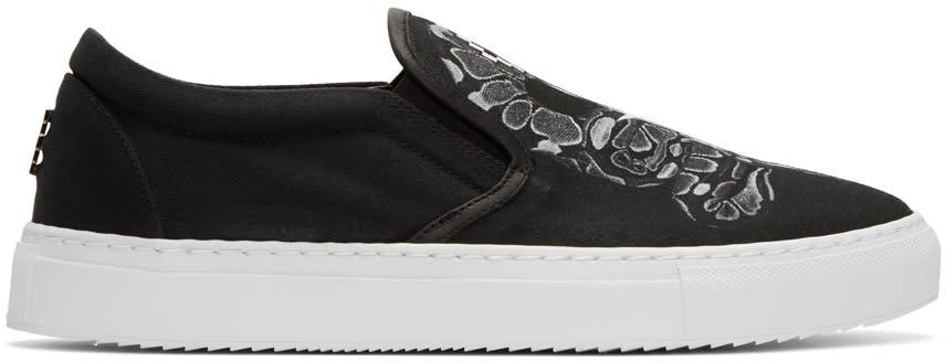 Marcelo Burlon County Of Milan Black Graziana Slip-on Sneakers