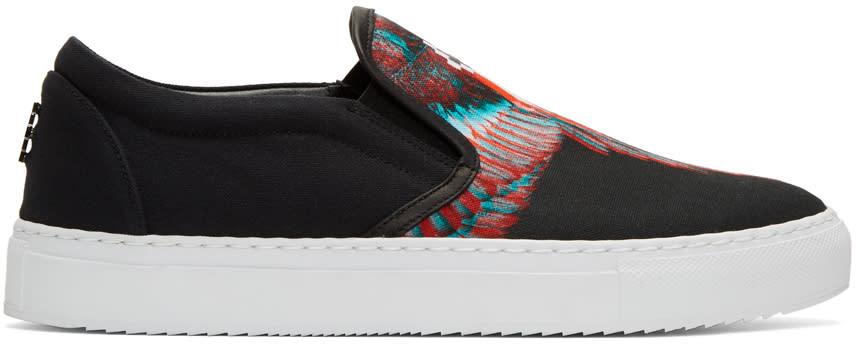 Marcelo Burlon County Of Milan Black Lauren Slip-on Sneakers