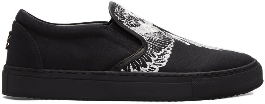 Marcelo Burlon County Of Milan Black Azelia Slip-on Sneakers
