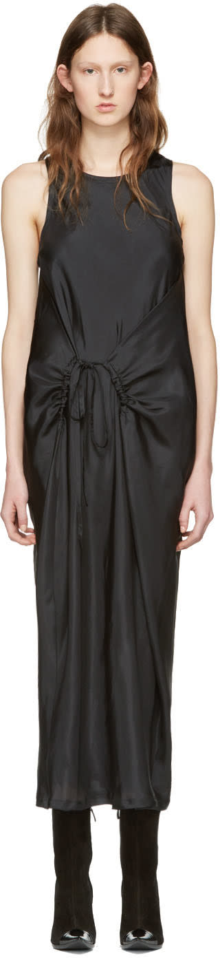 Haider Ackermann Black Silk Tank Dress