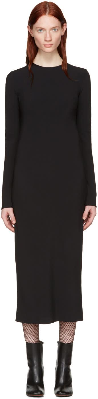 Haider Ackermann Black Bias Dress