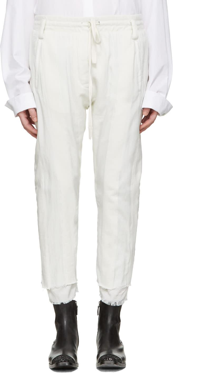 Haider Ackermann White Polonium Lounge Pants
