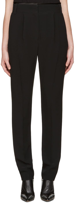 Haider Ackermann Black Pleated Trousers