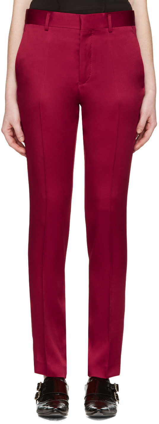 Haider Ackermann Red Classic Trousers