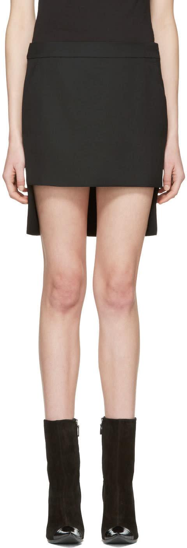 Haider Ackermann Black Cut Front Skirt