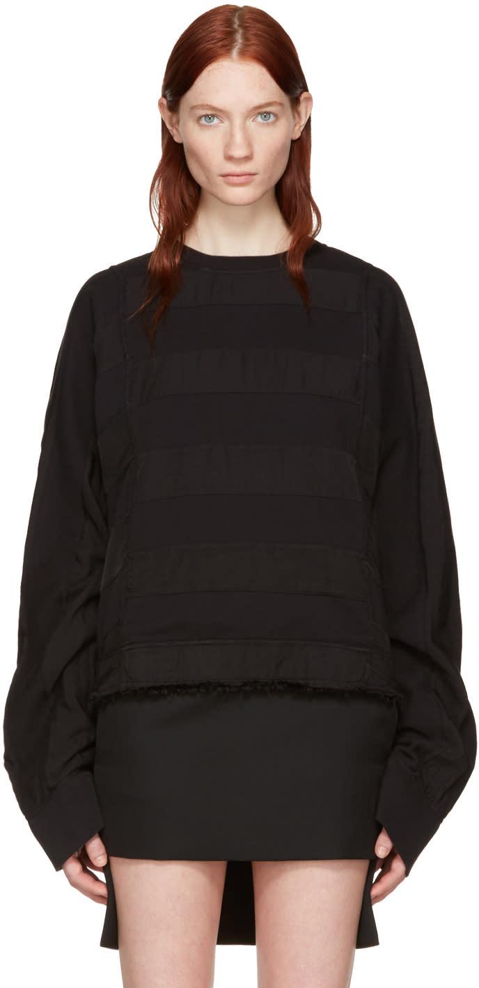 Haider Ackermann Black Polonium Pullover