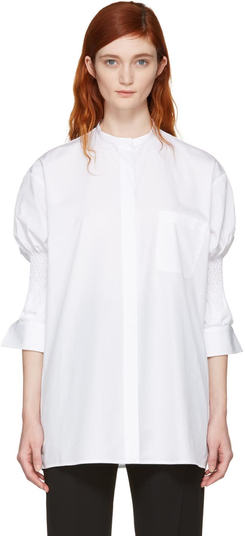 Haider Ackermann White Smocked Shirt