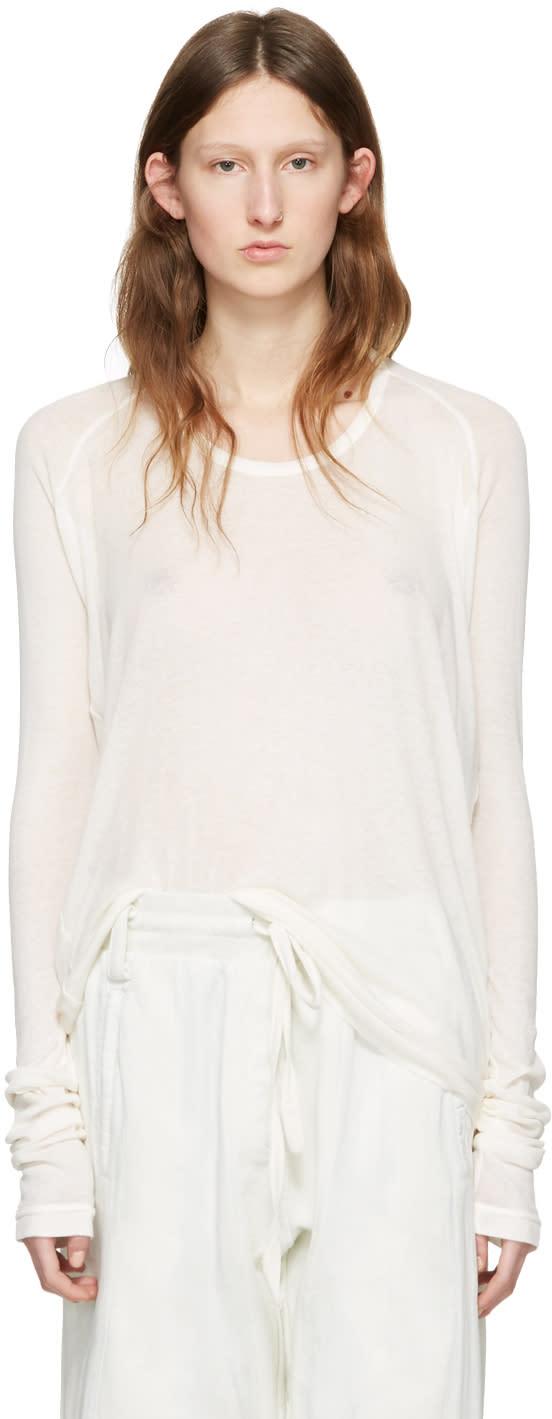 Haider Ackermann Off-white Long Sleeve T-shirt