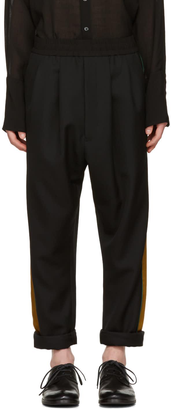 Haider Ackermann Black Stripe Trousers
