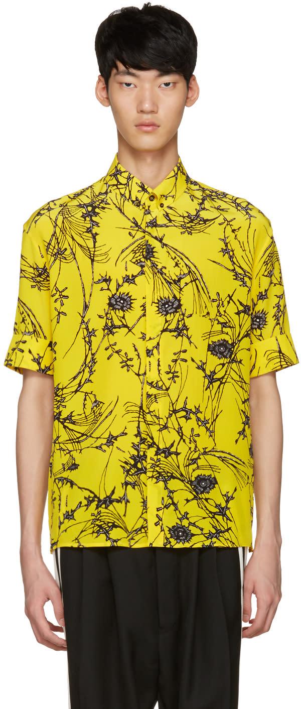 Haider Ackermann Yellow Floral Shirt
