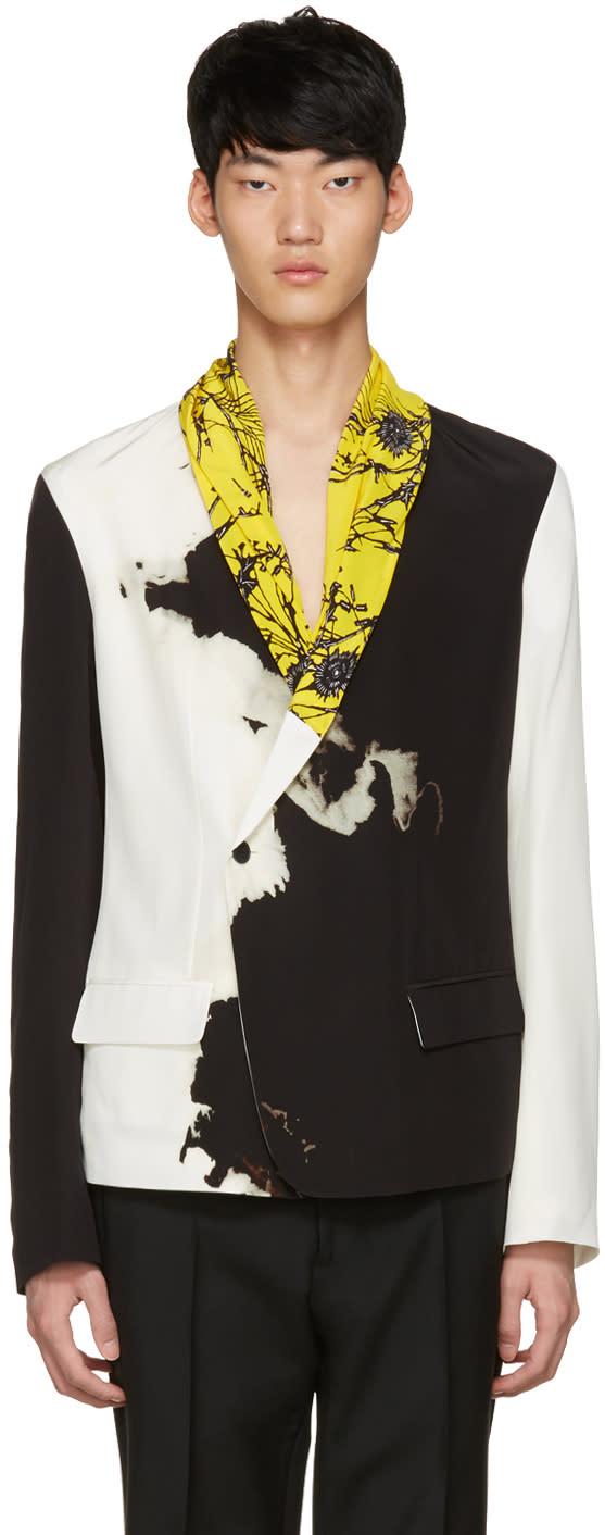 Haider Ackermann Black and White Silk Blazer