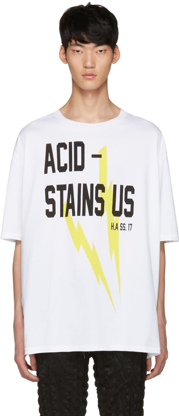 Haider Ackermann Ivory acid T-shirt