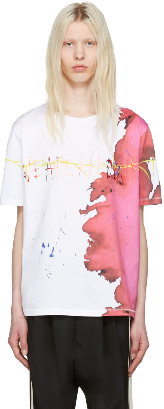 Haider Ackermann Ivory we Are All Dust T-shirt