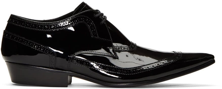 Haider Ackermann Black Patent Leather Brogues