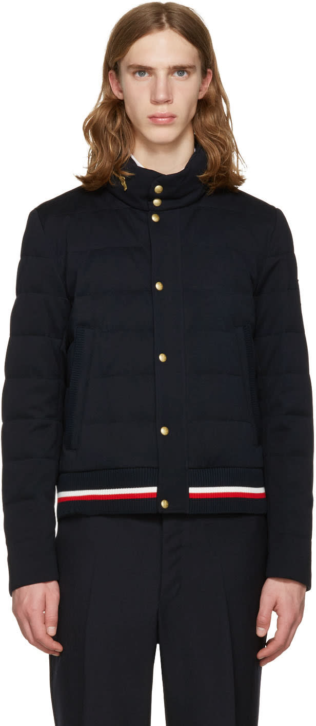 Moncler Gamme Bleu Navy Down Quilted Jacket