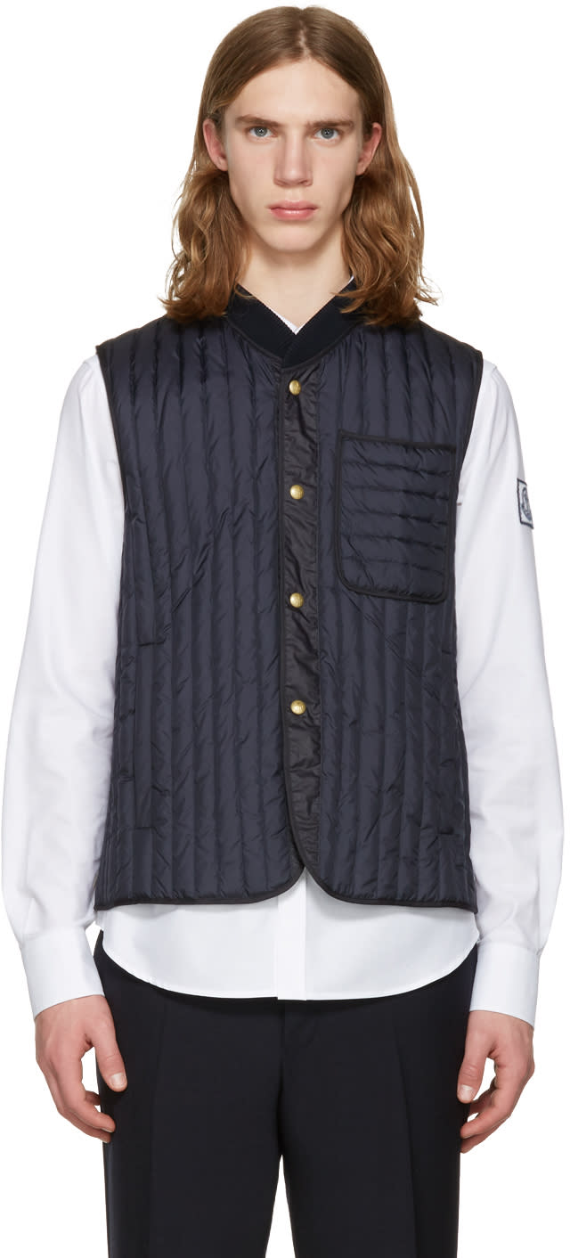 Moncler Gamme Bleu Navy Quilted Down Vest