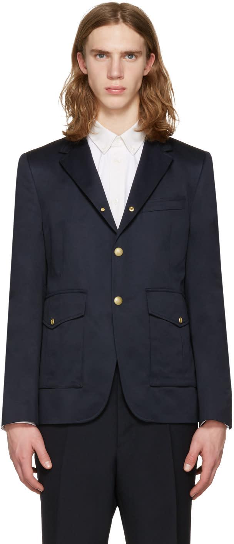 Moncler Gamme Bleu ネイビー カーゴ ポケット ブレザー