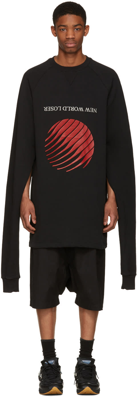 Hood By Air Black new World Loser Overnight Pullover