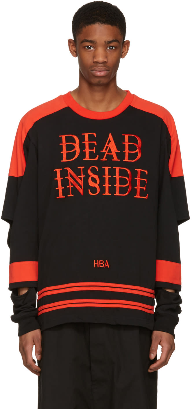 Hood By Air Black dead Inside Pullover