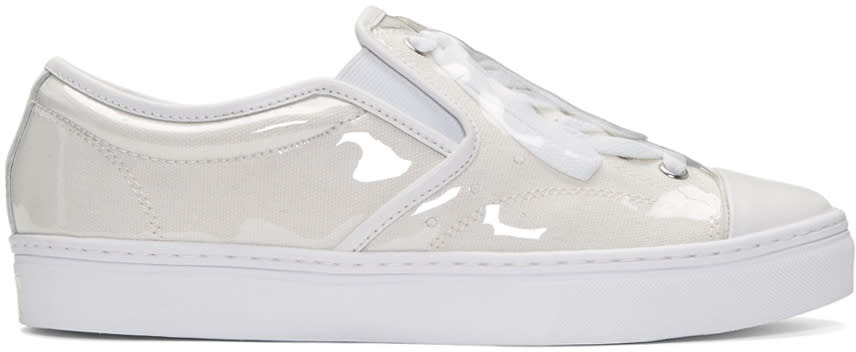 Miharayasuhiro White Pvc Covered Sneakers