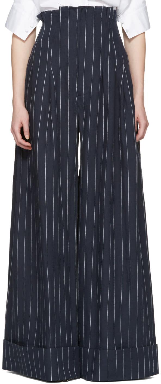 Jacquemus Navy le Pantalon Arlesien Trousers
