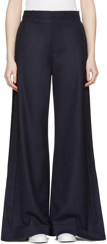 Jacquemus Navy le Pantalon Gardian Trousers