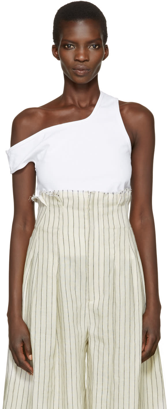 Jacquemus White le Marcel Qui Tombe Tank Top
