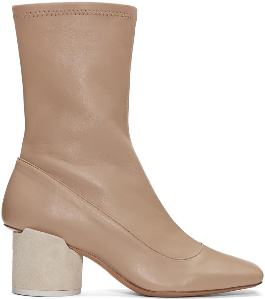 Jacquemus Taupe les Bottes Boots