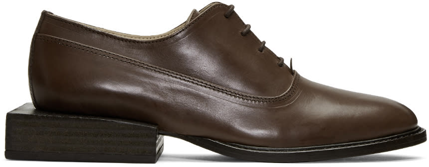 Jacquemus Brown les Chaussures Clown Oxfords