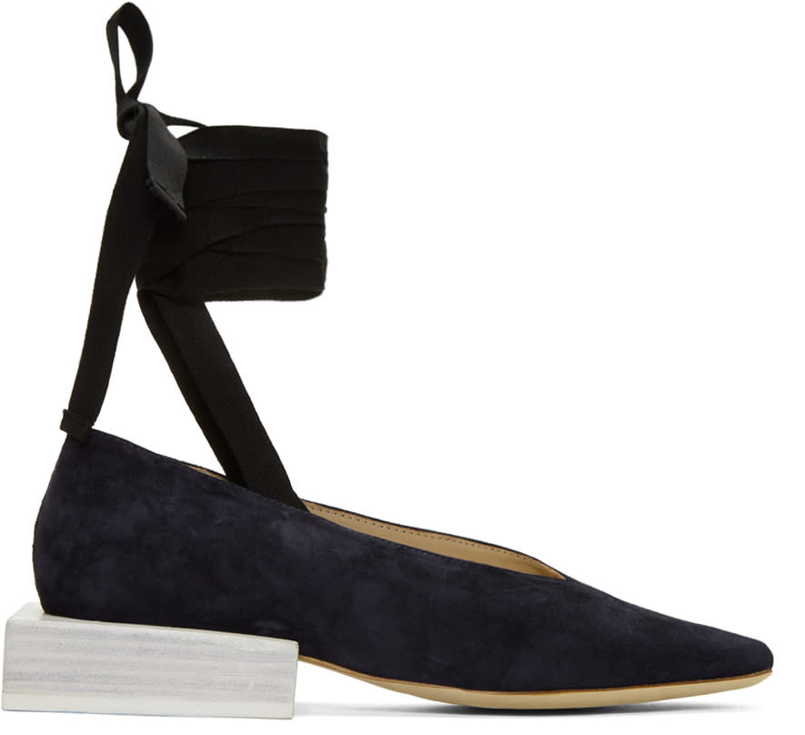 Jacquemus Navy les Chaussures Lac�es Loafers