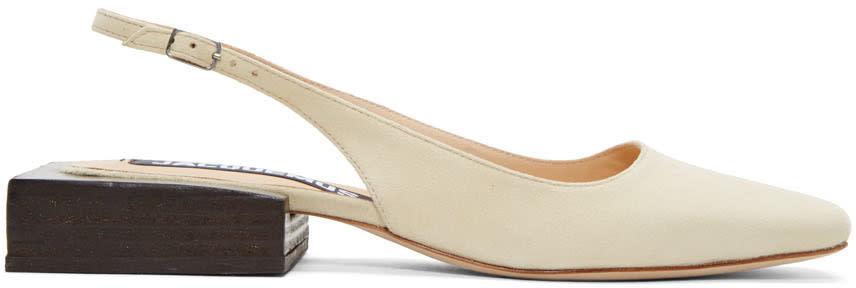 Jacquemus Beige les Chaussures Santons Heels