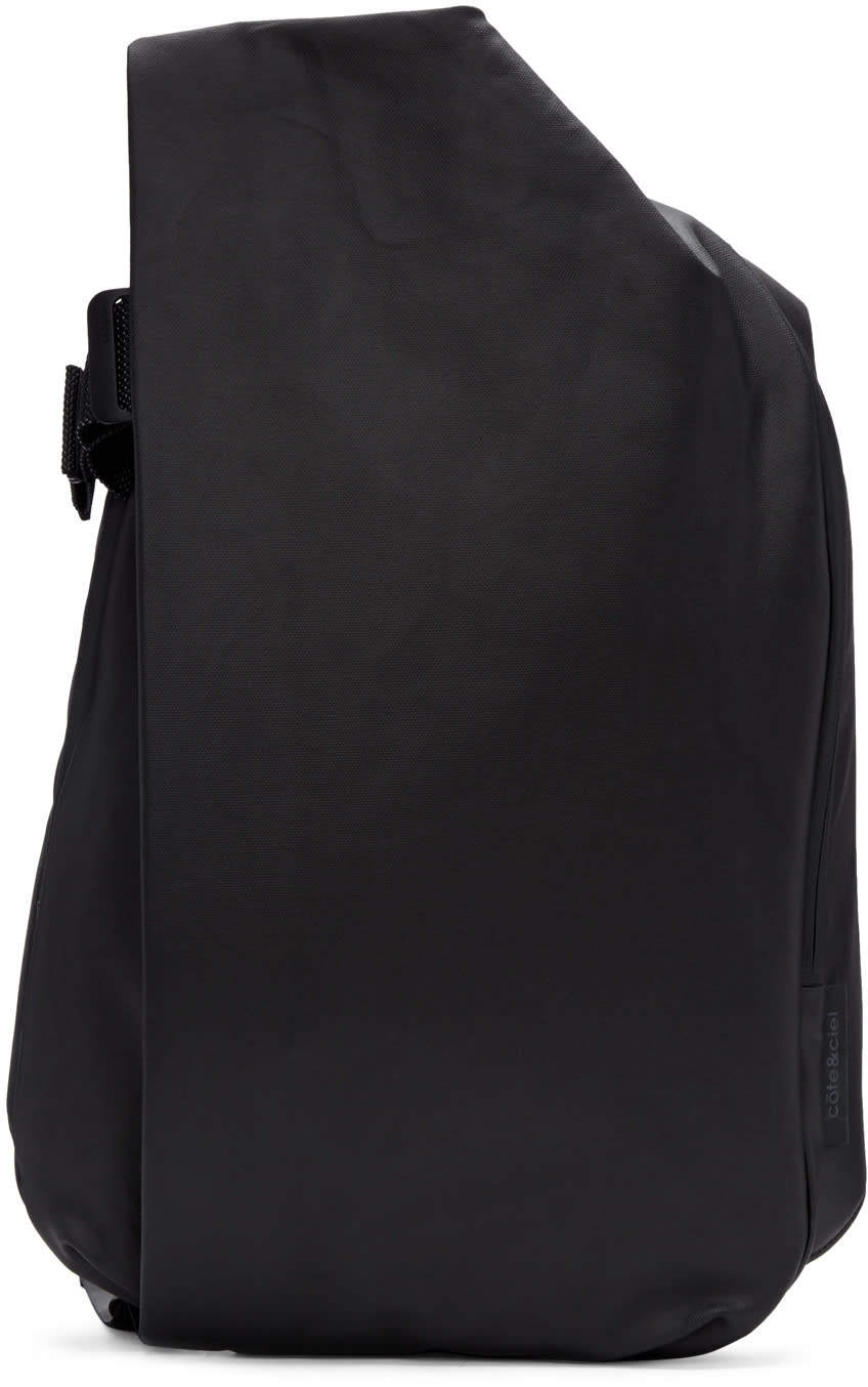 Image of Côte and Ciel Black Medium Isar Canvas Backpack